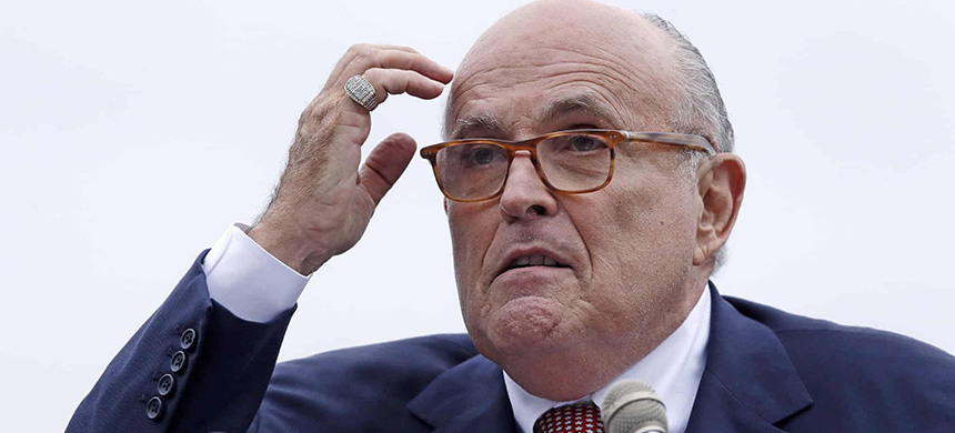 Rudy Giuliani: 'The president knows that everything I did, I did to help him.' (photo: Charles Krupa/AP)