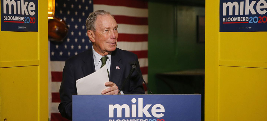 Billionaire Mike Bloomberg's entrance into the Democratic presidential race is sparking even more debate about wealth. (photo: Rick Scuteri/AP)