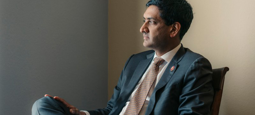 Rep. Ro Khanna (D-Calif.) in Washington, D.C., in December 2019. (photo: Justin T. Gellerson/NYT)